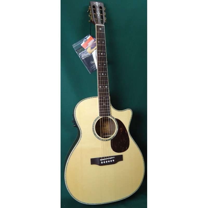 Hearty Sigma 000me 000 Small Body Acoustic Electric Guitar With Built In Tuner Lustrous Musical Instruments & Gear