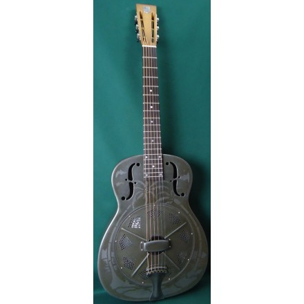 National O-14 Fret Weathered Steel Resonator