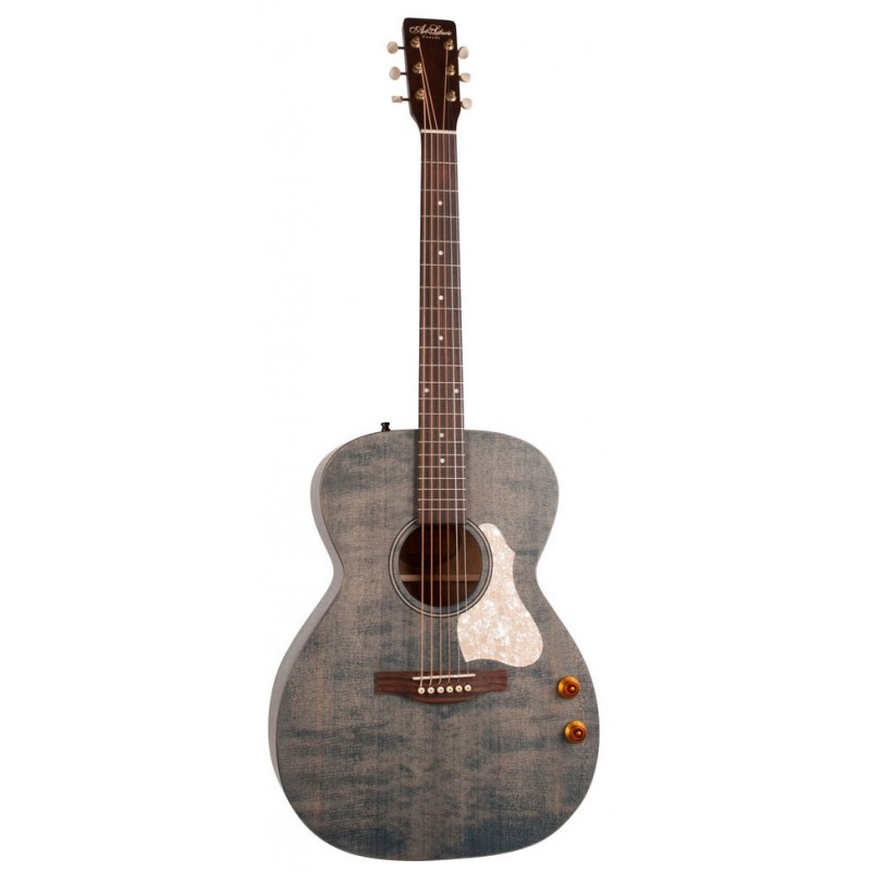 000 Small Body Acoustic Electric Guitar With Built In Tuner Lustrous Acoustic Electric Guitars Hearty Sigma 000me