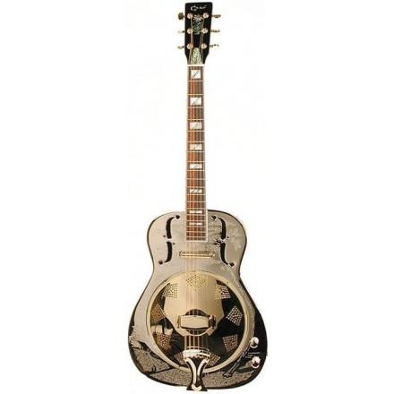 Ozark 3515BTE Resonator Guitar Nickel Plated Brass Resonator Guitar