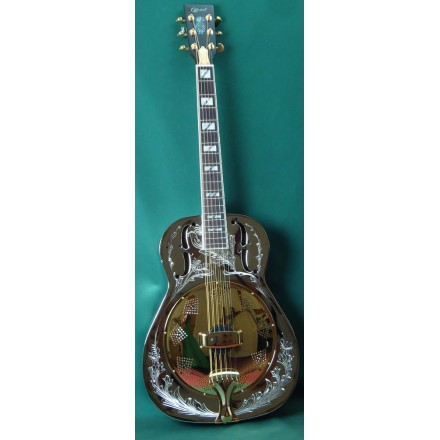 Ozark 3515BE Resonator Guitar Nickel Plated Brass Resonator Guitar