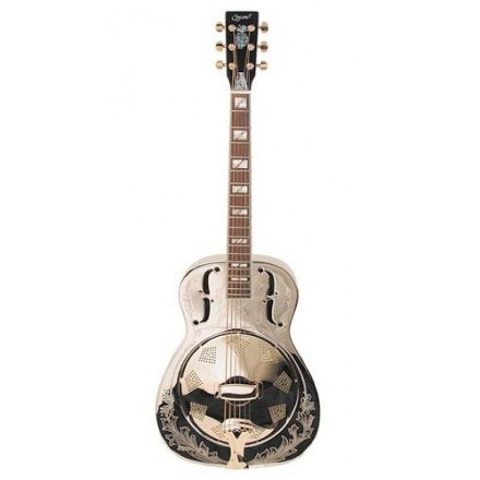 Ozark 3515BE Resonator Guitar Nickel Plated Brass Resonator Guitar