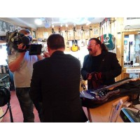 Roy Wood, Mark Radcliffe Filming BBC Documentry Frailers